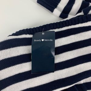 Brandy Melville stripped oversized sweater NWT